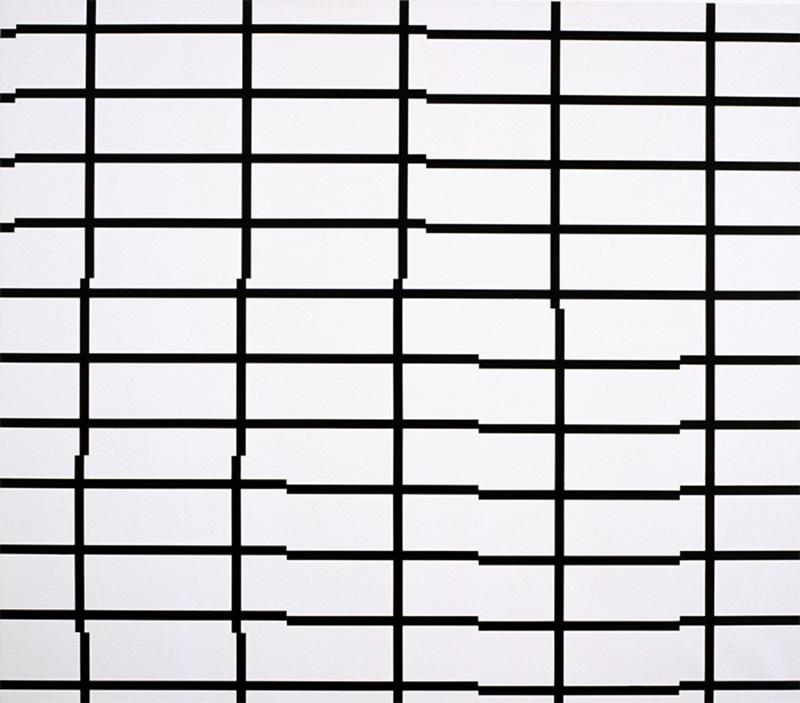 O.T., 2003, acrylic on cotton, 140 x 160 cm