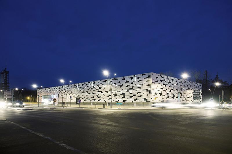 Parkhaus Metz, nightview